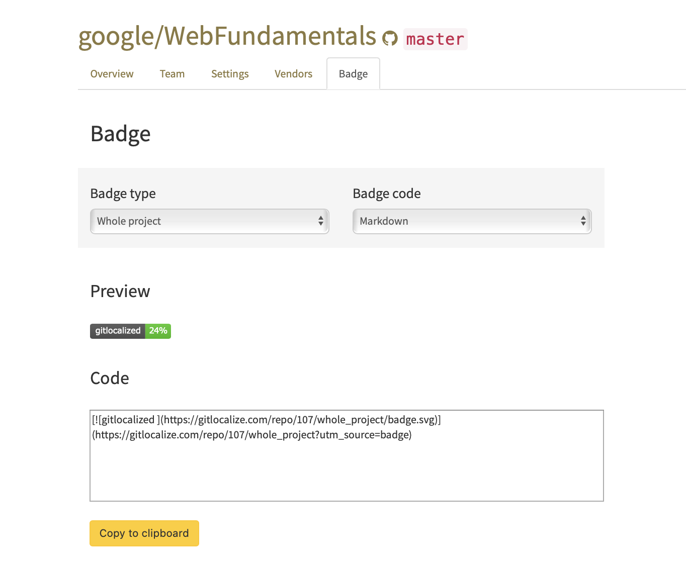 GitLocalized Badge